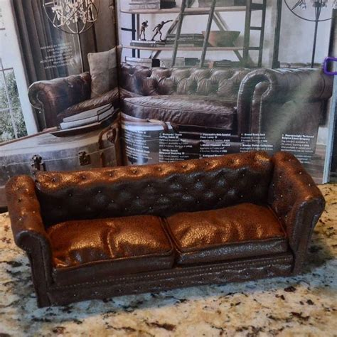 how to reupholster leather sofa miniature dollhouse leather couch tutorial hometalk