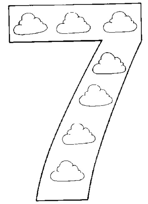 Free Coloring Pages Of Numbers 7 Number 7 Coloring Page