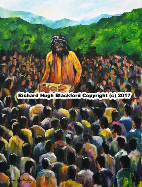 biography of jamaican artist richard hugh blackford feeding the multitude yardabraawd gallery and collectibles