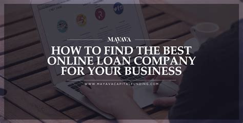 best loan companies how to find the best loan company for your business