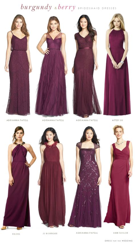 colors to match purple dress preloved bridal dresses burgundy mismatched bridesmaid dresses