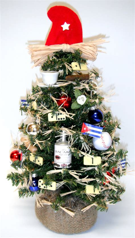 cuban themed christmas tree