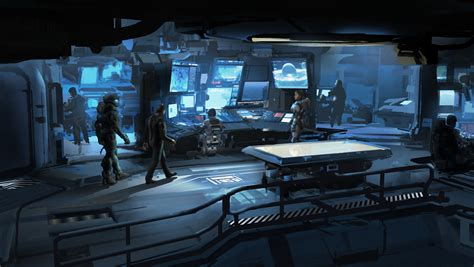 briefing room halo 5 concept by sparth 18 escape the level