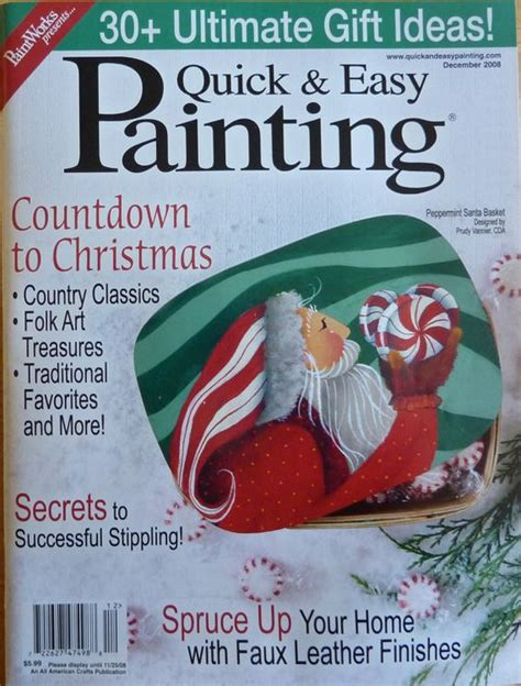 Decorative Painting Magazines by Easy Painting Magazine December 2008 Assorted