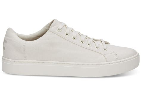 mens white canvas sneakers white canvas s lenox sneakers toms 174