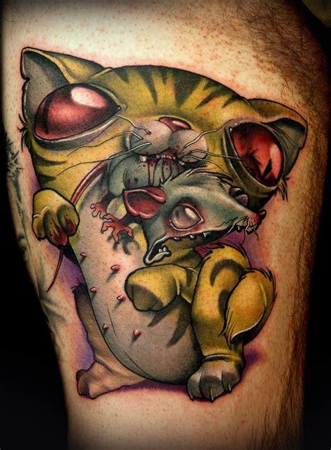 cat knife tattoo dagger tattoo cat vs rat inked pinterest