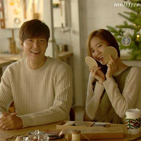 film lee min ho dengan yoona innisfree release pictures from lee min ho and yoona s