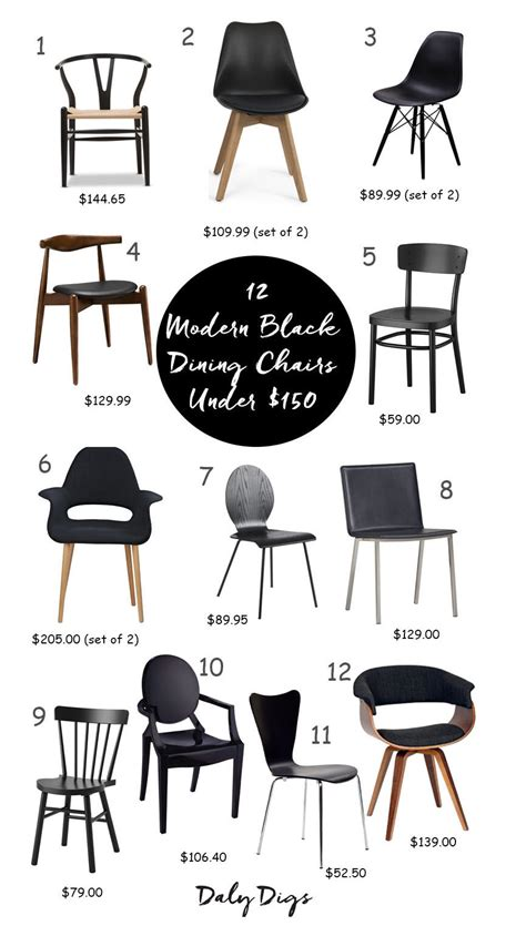 Modern Dining Room Chairs Black Black Modern Dining Room Chairs Daly Digs