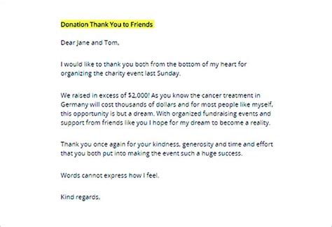 Thank You Letter For Donation Of Food Thank You Letter For Donation Tips On Writing