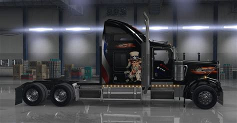 kenworth usa kenworth w900 usa themed mod mod ats mod american
