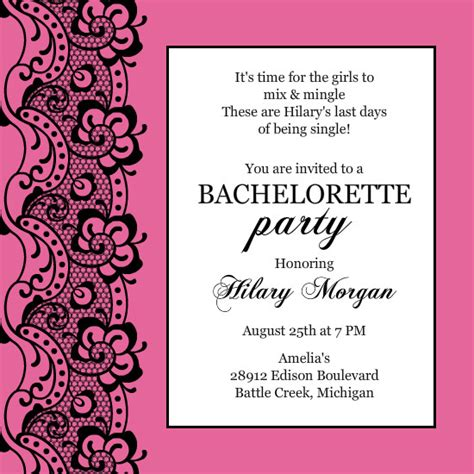 bachelorette invitation templates bachelorette invitation wording template best template