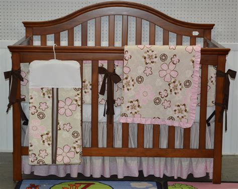 pink and brown crib bedding pink and brown floral 5 piece crib bedding