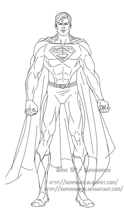 Coloriage De Superman En Ligne | Imprimer et Obtenir une
