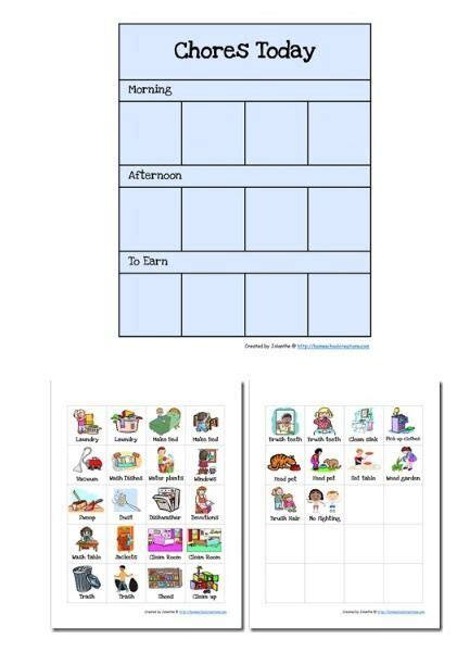 Free Printable Task Card Templates by Best 20 Preschool Chore Charts Ideas On