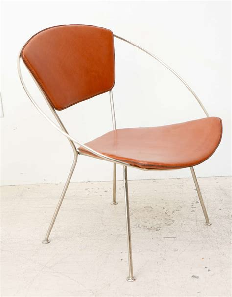 Hoop Chair by Leather Hoop Chair By Raymond Loewy For Arvins At 1stdibs