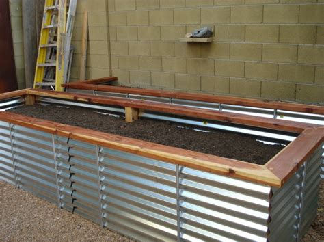 galvanized raised garden bed galvanized steel cinder block garden pinterest