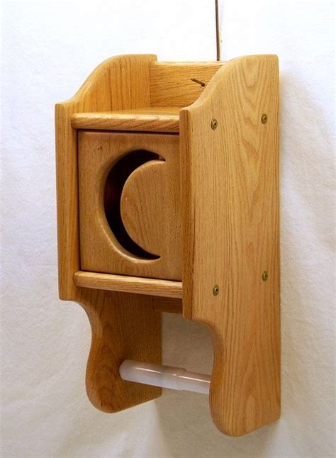 toilet paper holder wood wooden toilet paper holder oak wood with by