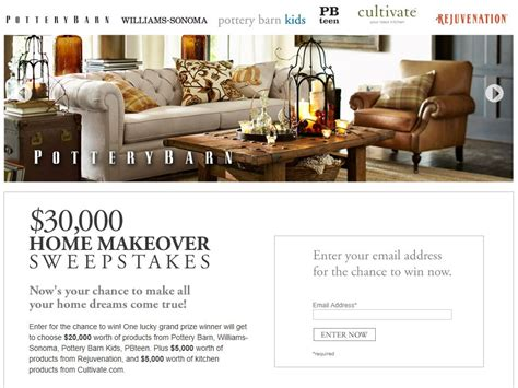 30 000 home makeover sweepstakes