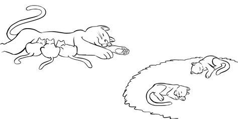 dibujos para colorear de gatitos bebes az dibujos para colorear gatitos durmiendo con su mam 225 dibujo infantil para ni 241 os