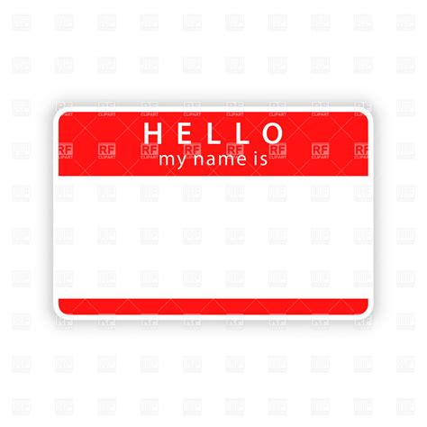 design name tags in word red empty name tag template royalty free vector clip art