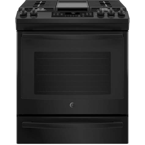 ge 5 6 cu ft slide in gas range with self cleaning