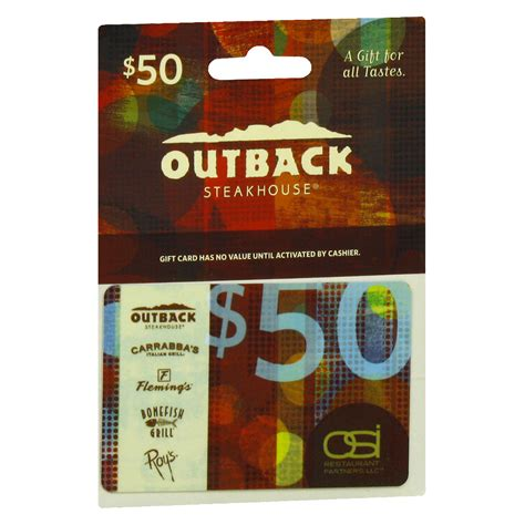 Osi Gift Card Services - outback 50 gift card walgreens