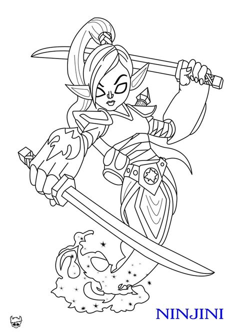 Skylanders Giants Pages To Coloring Pictures Coloring Pages Sonic X Skylander Ninjini Coloring Skylander Giants Coloring Pages