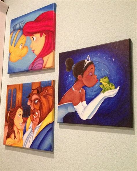 painting for disney princess 1000 ideas about disney canvas paintings on