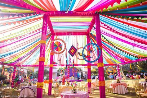 Best Mela Themed Decor for the Mehndi Party. Big Fat