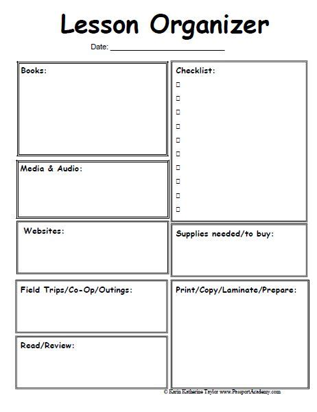 lesson plan checklist template best 25 preschool lesson plan template ideas on
