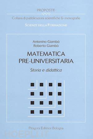 libreria pitagora bologna matematica pre universitaria giambo antonino giambo