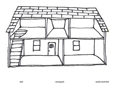 house colouring house outline images coloring pages
