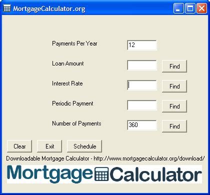 house payment loan calculator downloadable free mortgage calculator tool