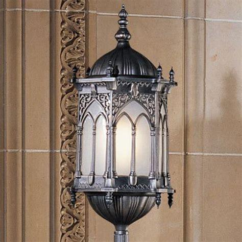 Gothic Chandelier Wrought Iron Aberdeen Manor Gothic Lantern Floor Lamp The Green Head