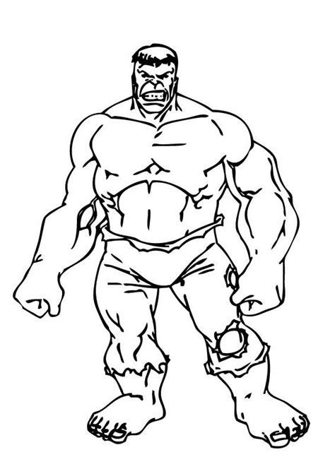 Desenho de Hulk super-herói para colorir - Tudodesenhos