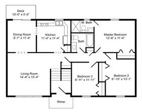 Bi Level House Plans by High Quality Basic House Plans 8 Bi Level Home Floor