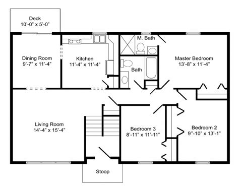 Bi Level Floor Plans by High Quality Basic Home Plans 8 Bi Level Home Floor Plans