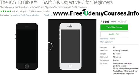 online tutorial objective c udemy 100 off the ios 10 bible swift 3 objective