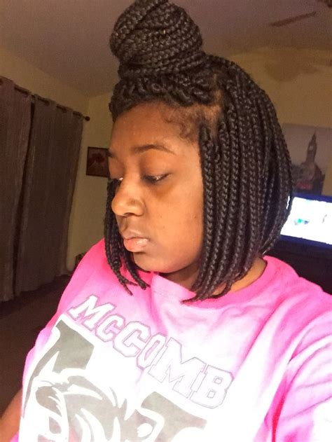 Bob Braid Hairstyles by Protective Style Box Bob Braids Protective Styles