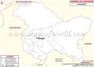 Jammu Kashmir Map Outline by Jammu Kashmir Outline Map