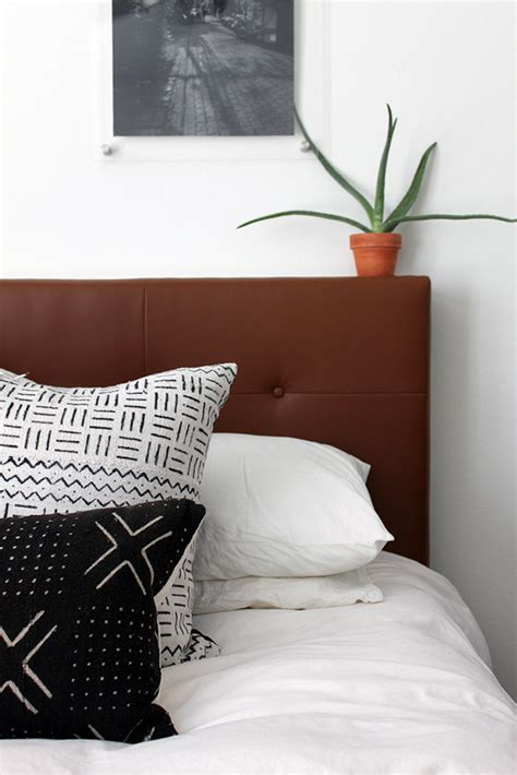 leather headboard diy west elm inspired diy leather tufted headboard and then