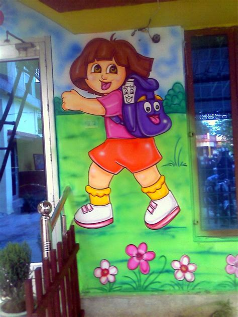 school painting play school wall painting 3d painting school