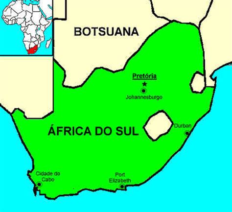 mapa da africa do sul 193 frica do sul mapa capital