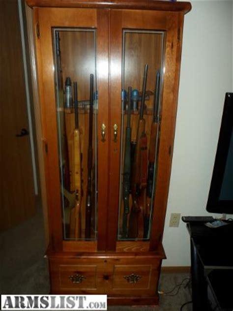 wood gun cabinet for sale armslist for sale wood 8gun gun cabinet