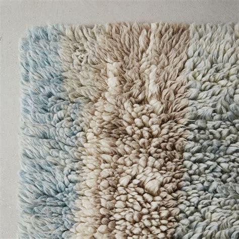Wool Shag Rug Marbled Wool Shag Rug Light West Elm