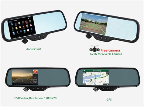 mirror pc to android replace your rear view mirror with this android version that includes a 5 inch lcd display