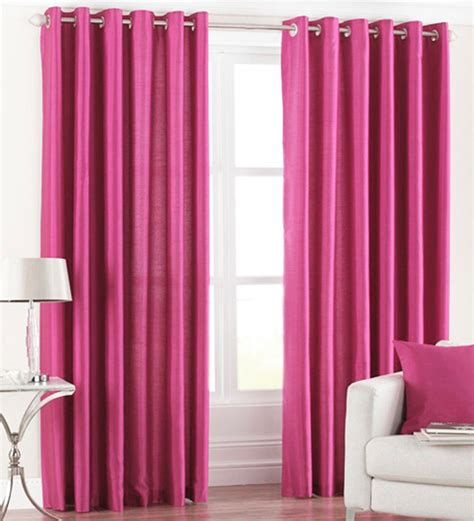 door curtains online india buy pindia pink polyester 84 x 48 inch solid eyelet door