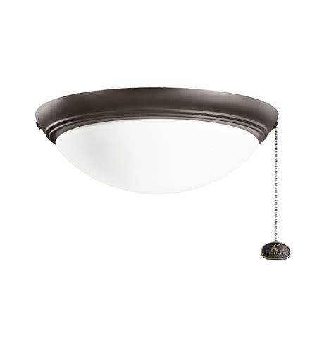 kichler basic low profile 2 light fan light kit in satin