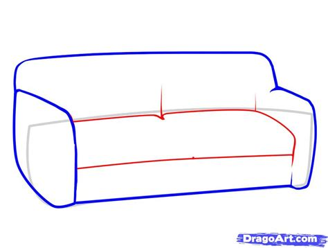 step by step upholstery how to draw a sofa