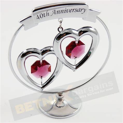 40th ruby wedding anniversary gift swarovski crystal ebay
